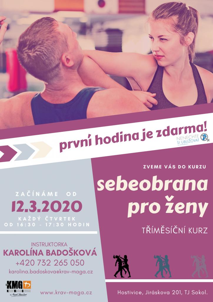 Od března nabízíme nový kurz Sebeobrana pro ženy!