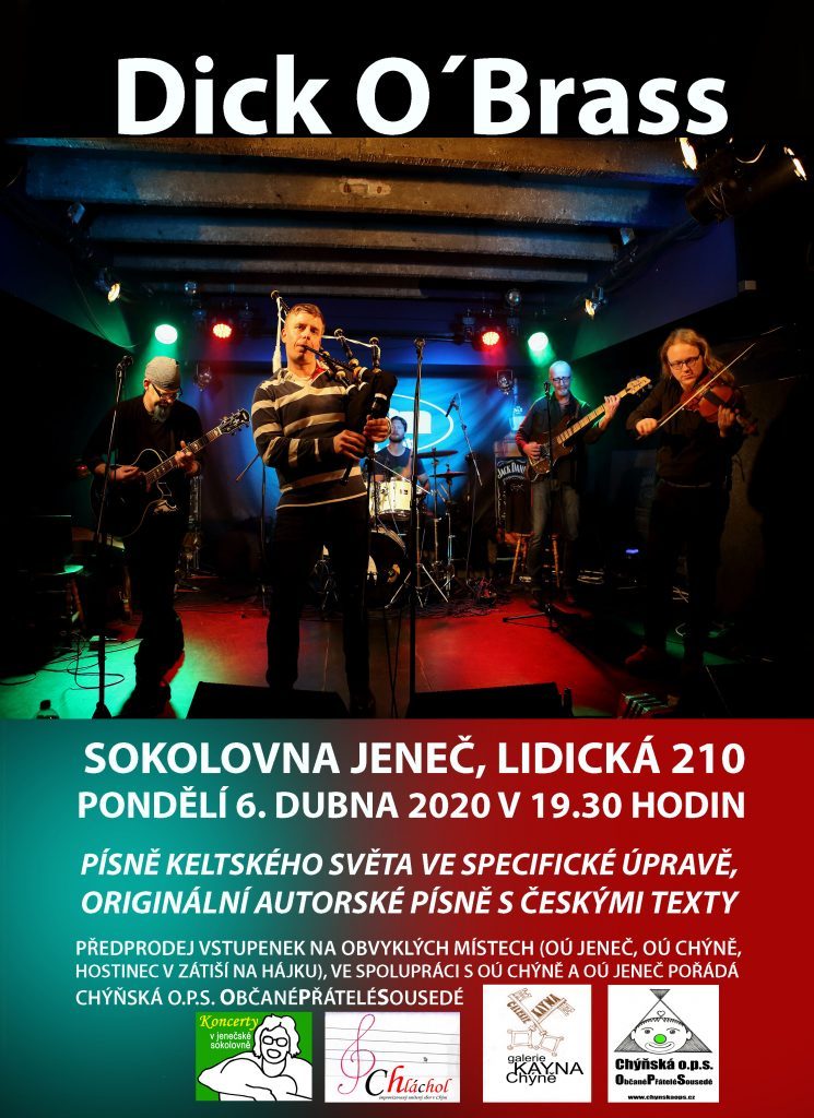 Zavítejte do Jenče na koncert Dick O´Brass - 6. 4. od 19.30 h