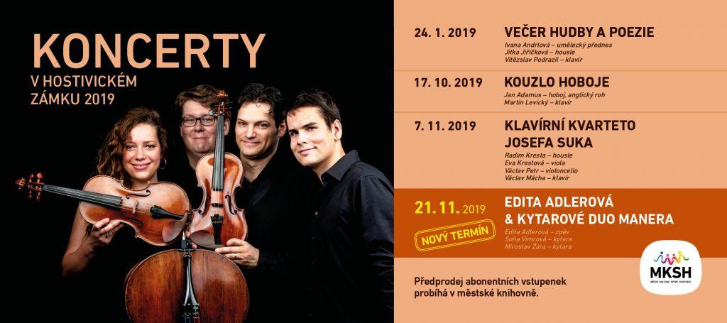 Nabídka koncertů v hostivickém zámku na rok 2019