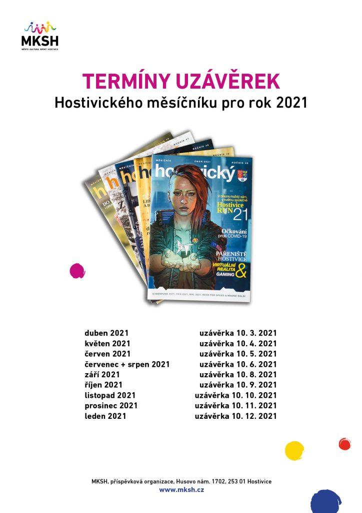 Termíny uzávěrek HM 2021