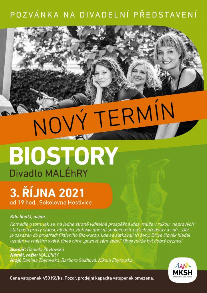 Divadelní představení Biostory 3. října 2021
