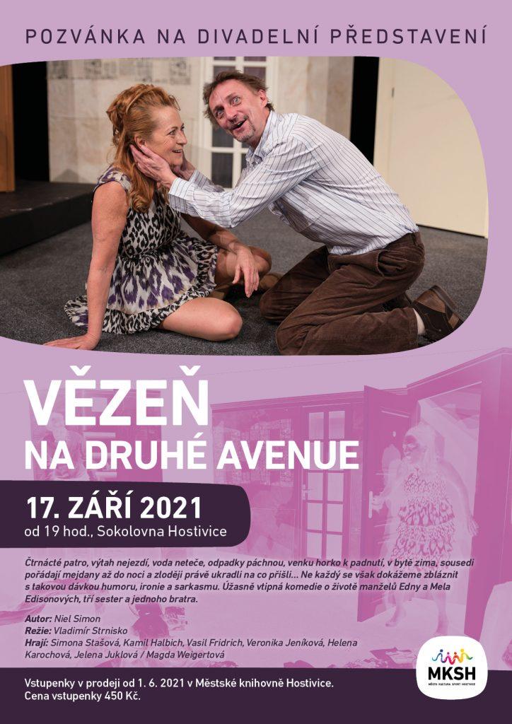 Divadelní představení VĚZEŇ NA DRUHÉ AVENUE 17. 9. 2021