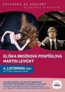 Klarinet a klavír (Eliška Brožková Pospíšilová a Martin Levický)